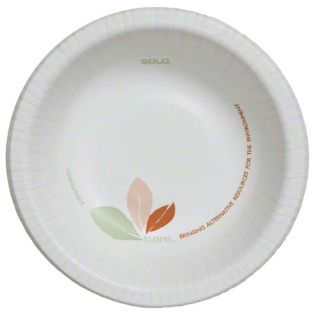 Solo® Bare® Clay Coated Paper Bowl - 12 oz.