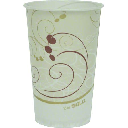 Solo® Symphony™ Waxed Paper Cold Cups - 16 oz.