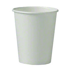 Solo® Single Poly White Paper Hot Cup - 10 oz.