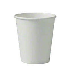 Solo® Single Poly White Paper Hot Cup - 6 oz.