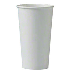Solo® Single Poly White Paper Hot Cup - 20 oz.