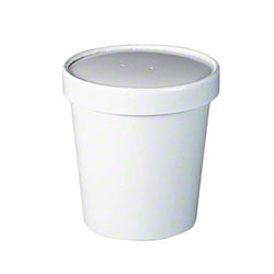 Solo® White Double Poly Paper Food Container-16 oz. Combo