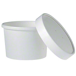 Solo® White Double Poly Paper Food Container -8 oz. Combo