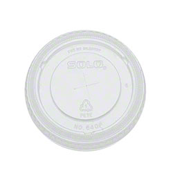 Solo® Lid For Ultra Clear™ PET Cup - Fits 10 oz.