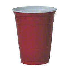 Solo® Plastic Party Cold Cup - 16 oz., Red