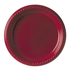 """Solo® Party Plastic Plate - 9"""", Red"""