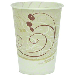 Solo® Symphony™ Waxed Paper Cold Cups - 9 oz.