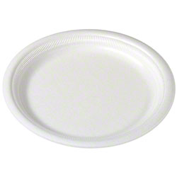 "Solo® 6"" Laminated Foam Plate - White"