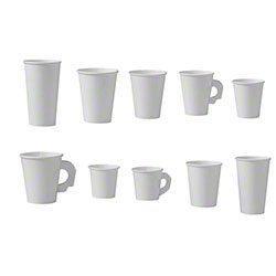 Solo® Single Poly White Paper Hot Cups
