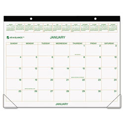 "Recycled Two-Color Desk Pad Calendar - 22"" x 17"", 2012"
