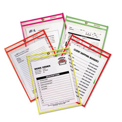 "C-LINE® Neon Stitched Shop Ticket Holder - 9"" x 12"""