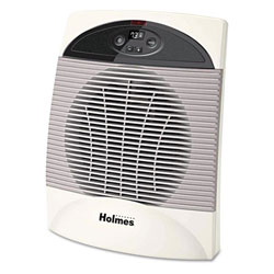 Holmes® White 1500W Energy Saving Heater Fan