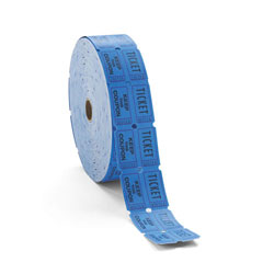 PM® Blue Consecutively Numbered Double Ticket Roll