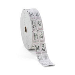 PM® White Consecutively Numbered Double Ticket Roll