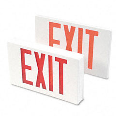 Tatco Exit Sign w/ Battery Backup - White