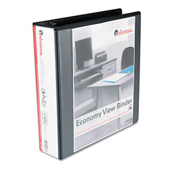 Universal Black Round Ring Economy Vinyl View Binder - 2""