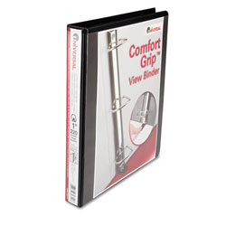 Black Comfort Grip Deluxe Plus D-Ring View Binder - 1""