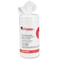 """Universal® Dry Cleaning Wipes in Pop-Up Pack - 5"""" x 10"""""""