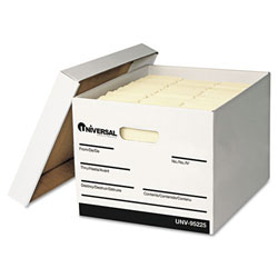"""White Extra-Strength Letter/Legal Storage Box - 12""""x15""""x10"""""""