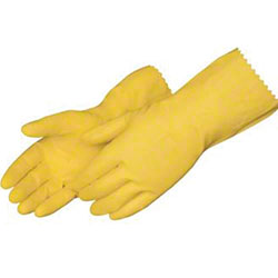 "Volk Work Safe® Yellow Latex 12"" Glove w/Embossed Grip - 10-XL"