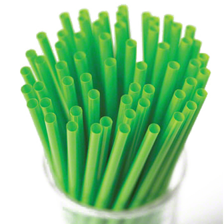 """WinCup® Vio® Biodegradable Green Wrapped Straw -10.25"""""""
