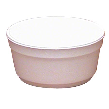 WinCup® White Foam Food Container - 8 oz.