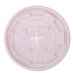 WinCup® Translucent Straw Slot Lid For 32 oz. Cups