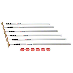 ZipWall® 12 Spring-Loaded Pole - 6-Pack